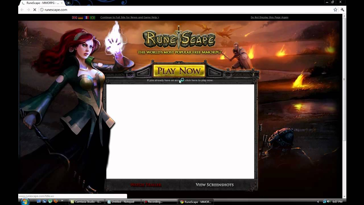Why wont my runescape load