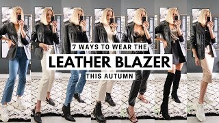 LEATHER BLAZER JACKET STYLING 7 AUTUMN OUTFITS & Vintage/Second Hand Leather Buying Tips