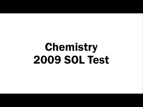 Chemistry 2009 SOL Test