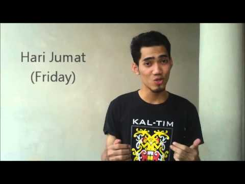 Days of the week in Indonesian - Learn Real Bahasa Indonesia #4