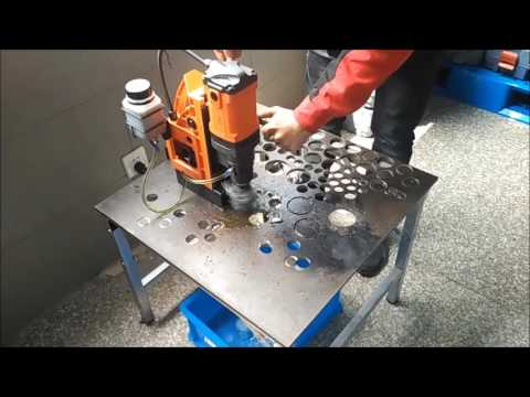 Advanced Magnetic Drilling Machine (Core & Twist Drilling, Tapping) for site& structural fabrication