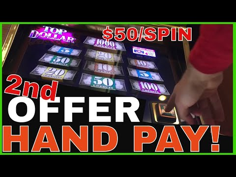 💰💰$50/Spin ⬆💲Top Dollar HAND PAY 🎰  High Limit Slot Machine Pokies ✦ Brian Christopher