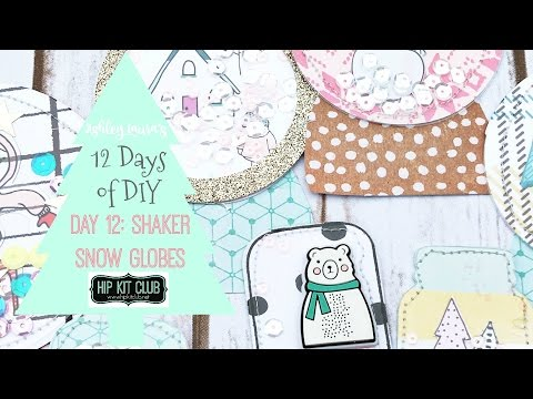 12 Days of DIY: Paper snow globe embellishments