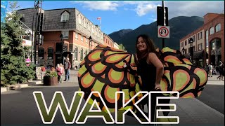 WAKE Hillsong Worship by  Lauren Daigle  Flagging Swing  Flags Dance Cover ft Claire CALLED TO FLAG