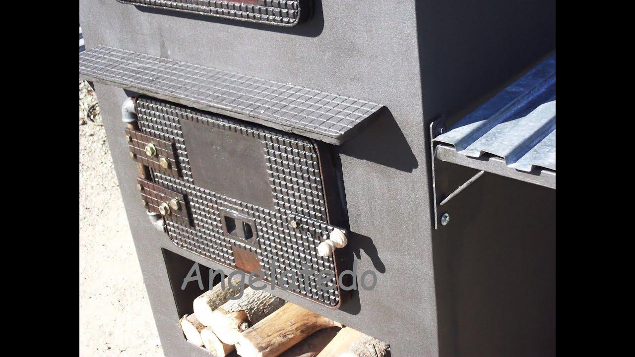C mo hacer una puerta para horno de le a de hierro - Como hacer una cocina de lena ...