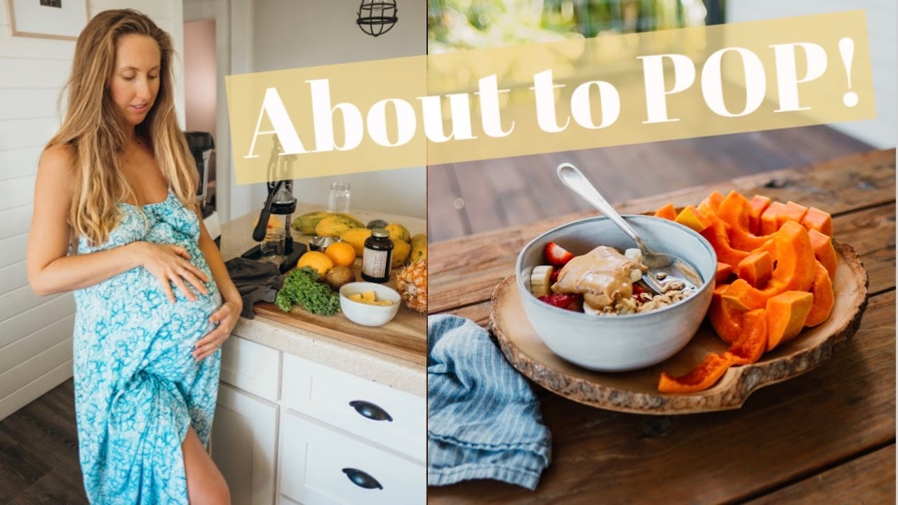 WHAT I ATE TODAY VEGAN MOM about to give birth!