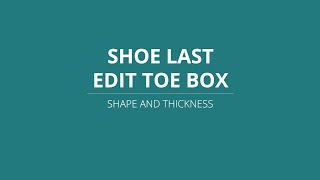 LutraCAD - Shoe last - Edit Toe Box Shape And Thickness