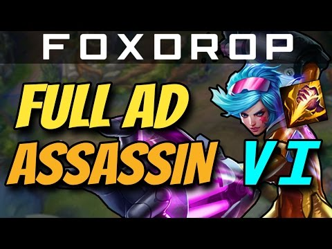 FULL AD VI JUNGLE - One Shot Assassin - How to Carry #17 League of Legends Unranked to Diamond