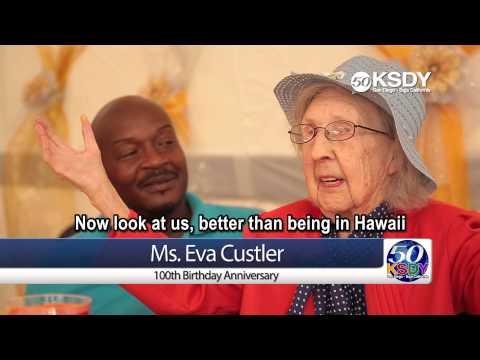 San Diego Post Acute  Care Center - Ms. Eva Custler's 100th Birthday