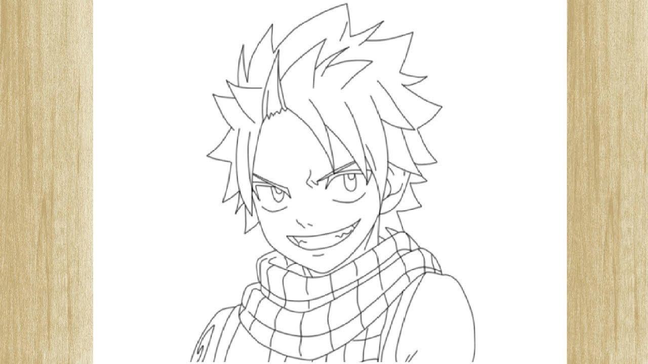 How To Draw Natsu Dragneel From Fairy Tail Como Desenhar O Natsu