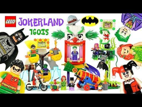 O Batman Jokerland Harley Quinn Robin Poison Ivy Penguin Beast Boy Starfire