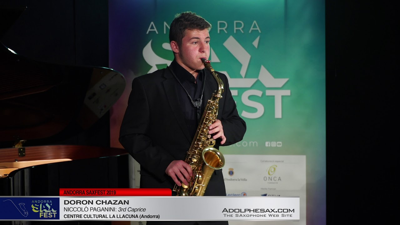 Andorra SaxFest 2019 1st Round   Doron Chazan   3rd Caprice by Niccolo Paganini