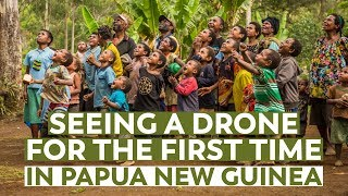Incredible Reaction to Flying a Drone in Papua New Guinea!