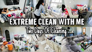Whole House Clean With Me 2020 | Two Days Of Cleaning | Extreme Cleaning Motivation | Actual Mess