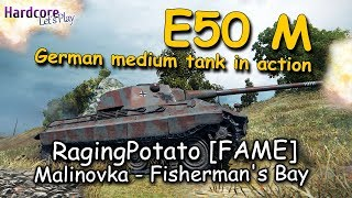WOT: E50M, German medium all rounder in action, RagingPotato [FAME], WORLD OF TANKS