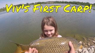 Viv's First Carp (Ada Hayden Lake, Ames, Iowa)