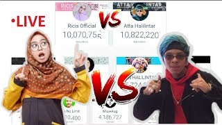 TOP Youtubers Indonesia Sub Count Live | Atta Halilintar vs Ricis Official