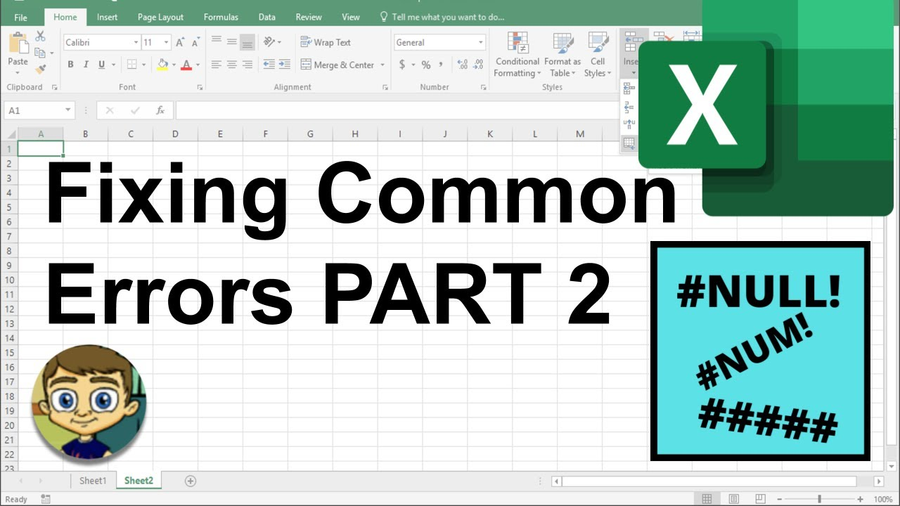 Download Fixing Common Excel Errors - Part 2: NULL, NUM & #####