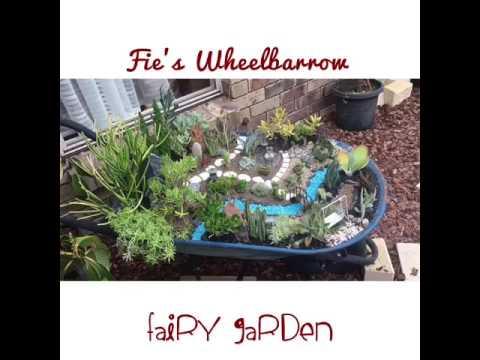 Wheelbarrow Fairy Garden Ideas - YouTube