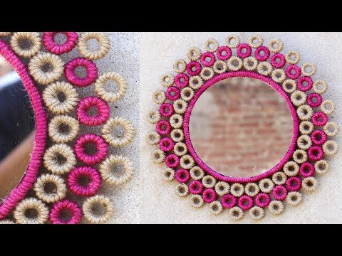 How to Make Jute Rope Wall Hanging Mirror | Entryways Wall Hanging Mirror Decor