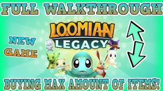 (NEW) LOOMIAN LEGACY - ROUTE 1 TO 4 - COMPLETING IT ALL - BUYING MAX SHIELDS - Roblox