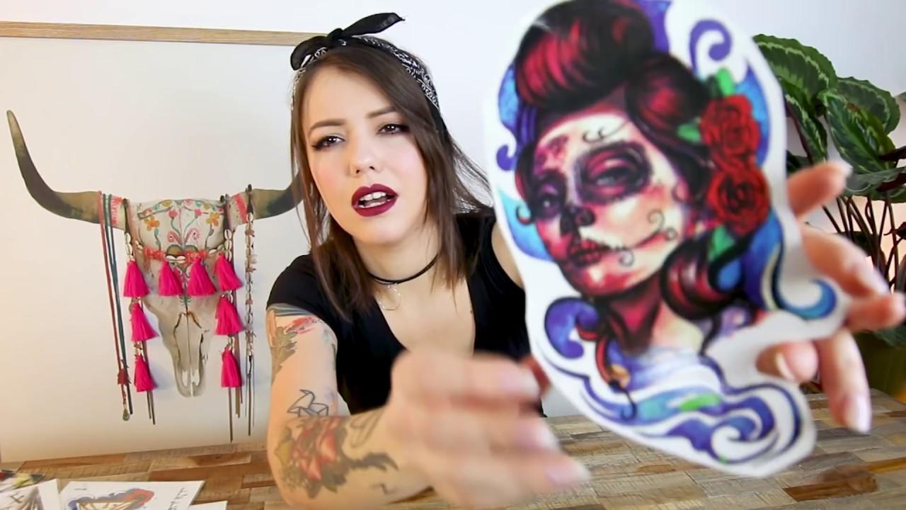 ich teste tattoos zum aufkleben youtube. Black Bedroom Furniture Sets. Home Design Ideas