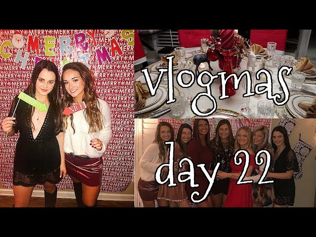 VLOGMAS DAY 22: christmas party + meet my friends