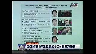 DOCENTES INVOLUCRADOS CON EL MOVADEF ATV+