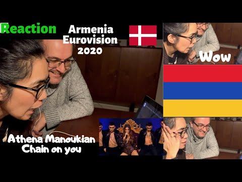 ARMENIA | EUROVISION 2020 | REACTION | ATHENA MANOUKIAN- Chains On You | Danish Reaction  | DENMARK