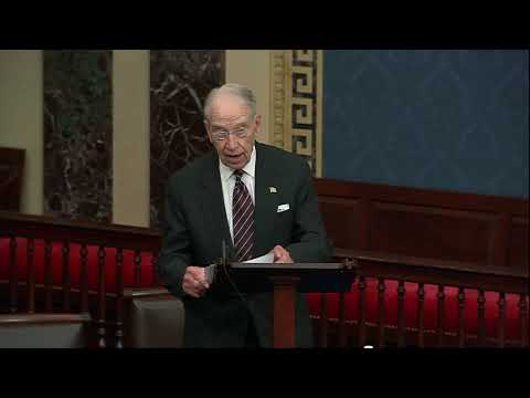 """Grassley on the """"For the People Act"""""""