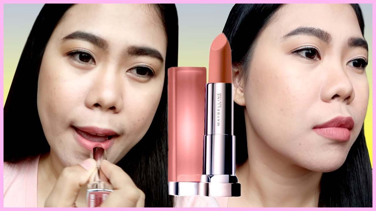 Maybelline The Powder Mattes Touch Of Nude Lipstick First Impression Maybellinelipstik Thelatebloomer11 Beccavlogs Latebloomer