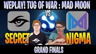 [ENG] Secret vs Nigma | Bo5 GRAND FINALS WePlay! Tug of War: Mad Moon | DOTA 2 LIVE CAST by @Crysis