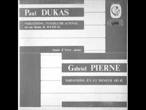 ANNIE D'ARCO plays DUKAS & PIERNE Variations (1971)