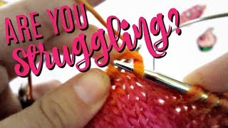 Continental Knitting & Purling Tips & Exercises