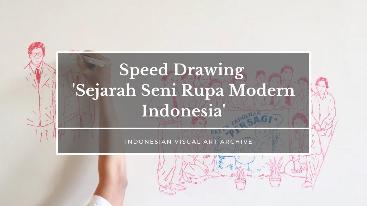 Speed Drawing Sejarah Seni Rupa Modern Indonesia Youtube