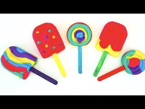 Пластилин для детей, лепим мороженое, детское творчество
