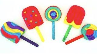 Пластилин для детей, лепим мороженое из плей-до