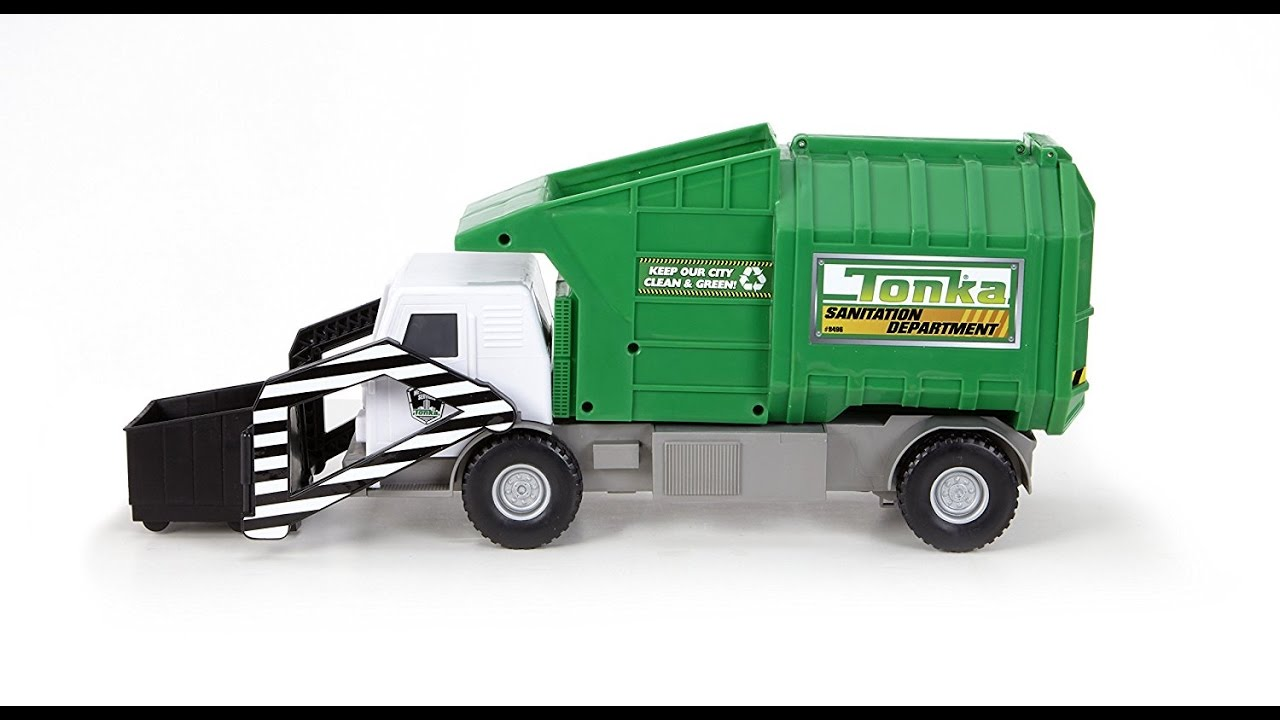 tonka mighty motorized garbage ffp truck toy for kids
