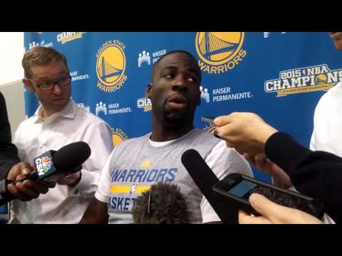 "Draymond Green on Leandro Barbosa: ""When he gets mad at me he talks in Portugese"""