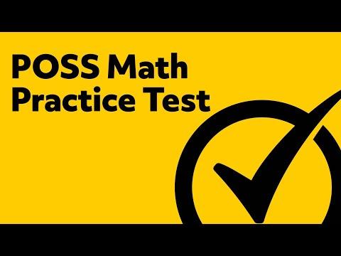 Best Free POSS Math Practice Test