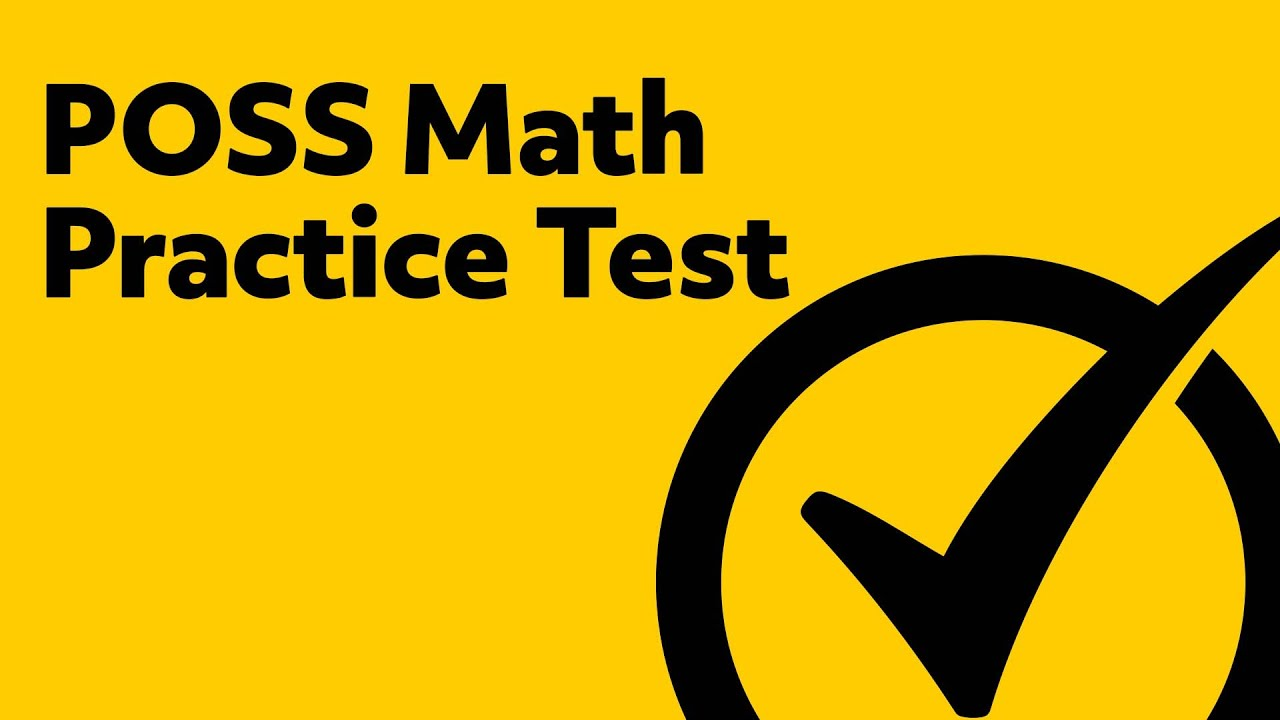 Best Free POSS Math Practice Test - YouTube