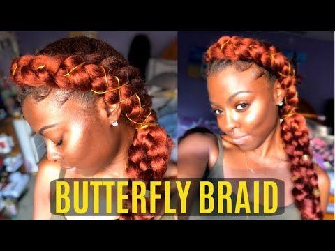 BEGINNER FRIENDLY | SIMPLE BUTTERFLY MERMAID BRAID ON NATURAL HAIR