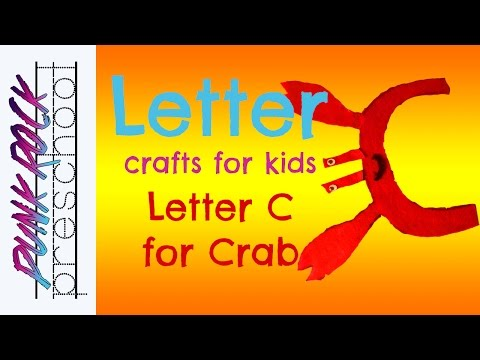 Letter C for Crab    Best Letter Crafts for Kids   Fun Letter Activities for Preschool