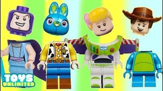 Wrong Heads Learning Game with Mix n Match Toy Story 4 Legos