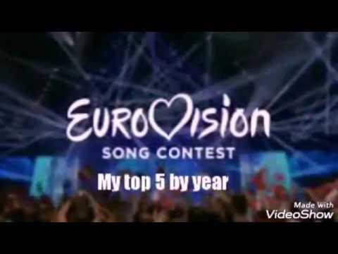 Eurovision | My top 5 each year [2005 - 2017]