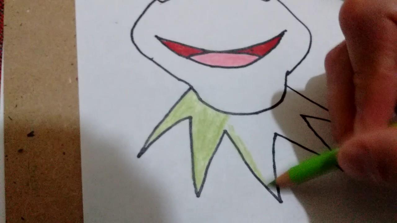 Como dibujar a la rana Rene /how to draw rana Rene - YouTube