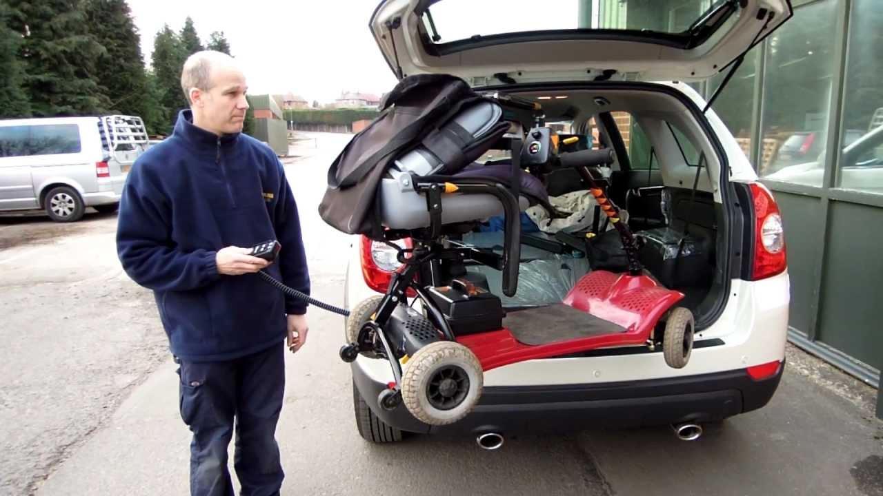 Scooter Wheelchair Hoist Kerbsider Vsl6900 Youtube