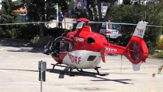 DRF Rettungshubschrauber Christoph 11 RTH (VS) Landung & Start | DRK Feuerwehr DLRG Bergwacht