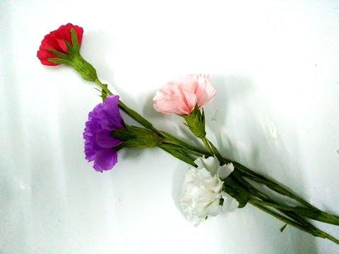 cách làm hoa phăng bằng giấy nhún - làm hoa giấy đơn giản nhất