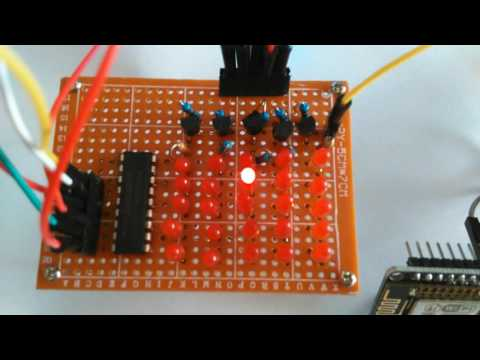 ESP8266: Controlling a LED matrix with the 74HC595 ICs